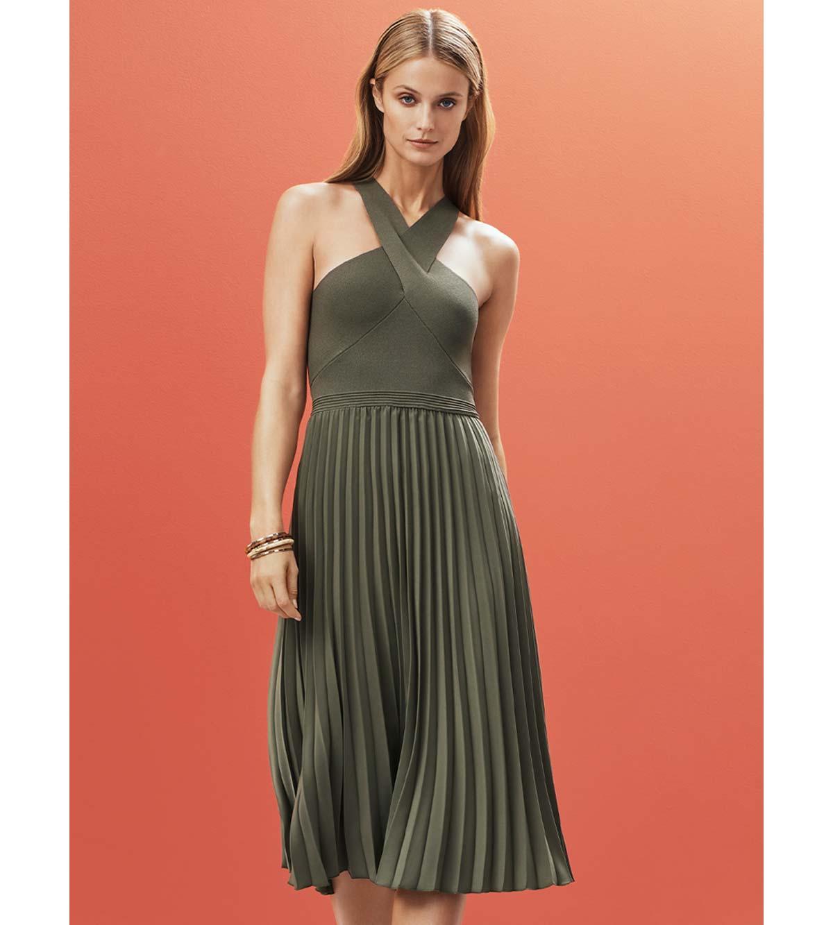Courtney Knit Splice Dress