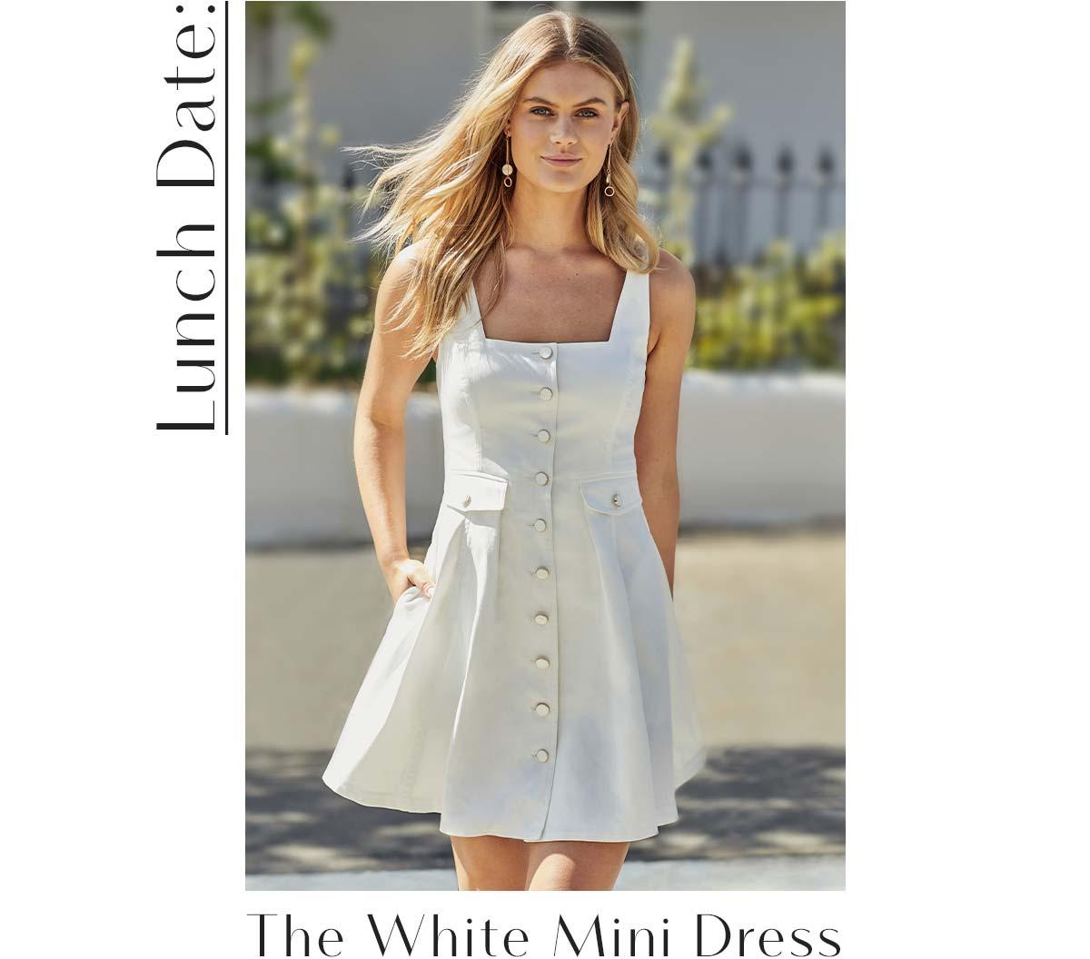 Lunch Date: The White Mini Dress